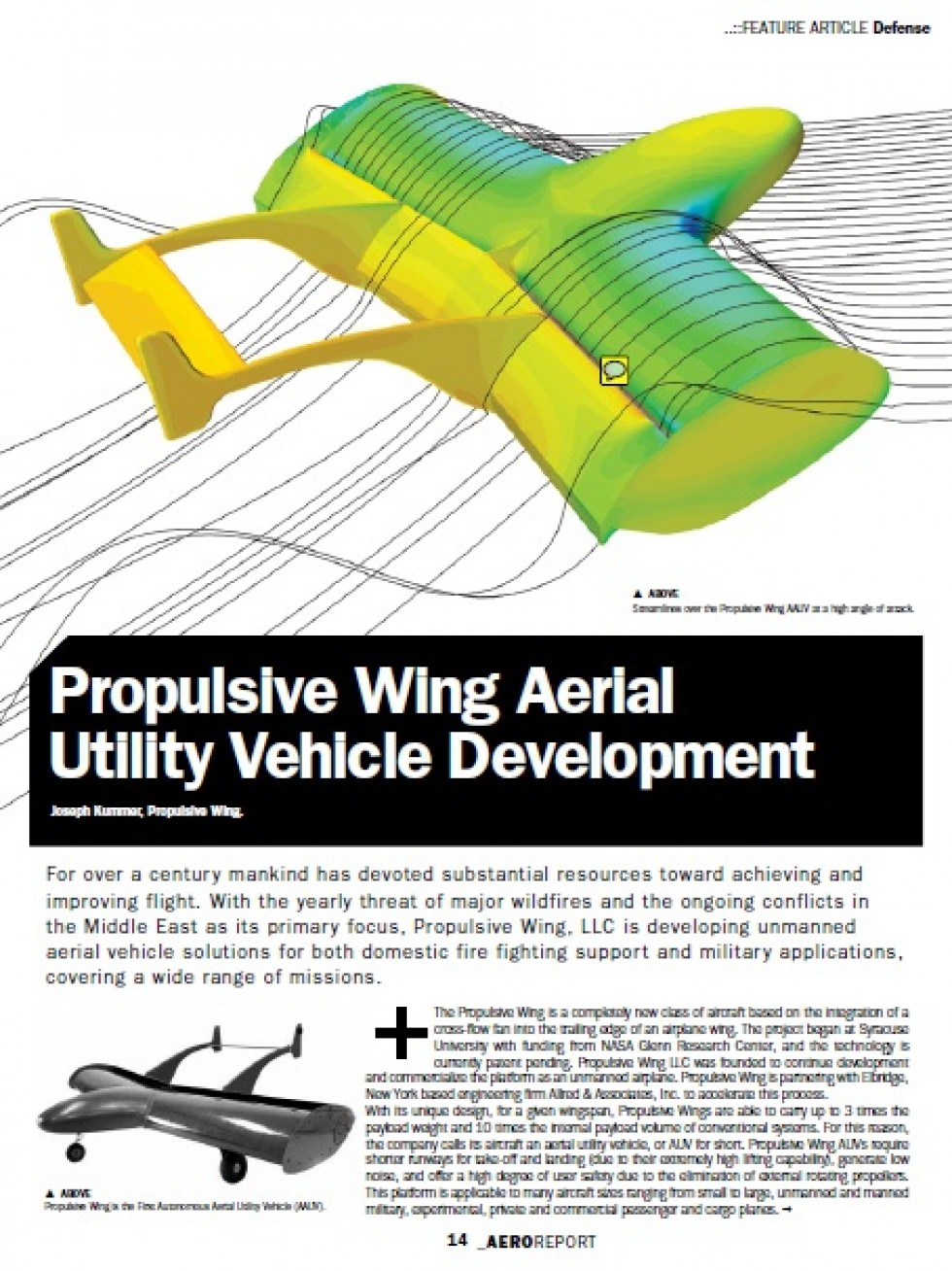 Propulsive Wing Aerial Utility Vehicle Development | MDX