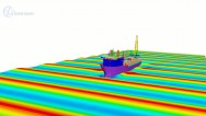 A FPSO unit in waves