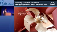 Unsteady Cavitation Simulation on Kappel Propeller with a Hull Wake Field