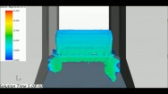 Simulation of flow in a dam spillway