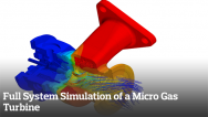 Full System Simulation of a Micro Gas Turbine