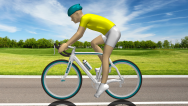 Cyclist Motion in CFD