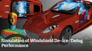 Simulation of Windshield De-Ice/Defog Performance