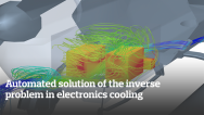 Automated solution of the inverse problem in electronics cooling