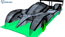Surface wrapping of a Le-Mans Car