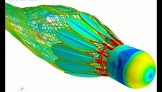 Unsteady simulation of a spinning shuttle cock with Transition Modeling