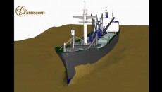 Dynamic Fluid Body Interaction simulation of a large cargo ship