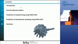 Forced Response Analysis of a Radial Inflow Turbine using STAR-CCM+