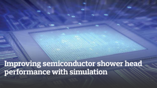 Improving semiconductor shower head performance with simulation
