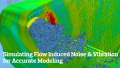 Simulating Flow Induced Noise and Vibration for Accurate Modeling