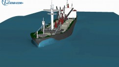 Animation of a Large Cargo Ship