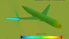 STAR-CCM+/Abaqus Co-simulation of wing tip flutter