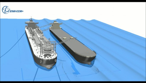 FPSO and a Tanker in waves with overlapping overset mesh